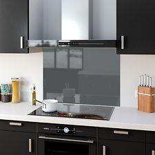 Shades Of Grey Gray Toughened Glass Kitchen Splashback Panels Any Size & Colour