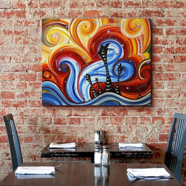 Colorful Abstract Commercial Wall Decor Wall Art Little