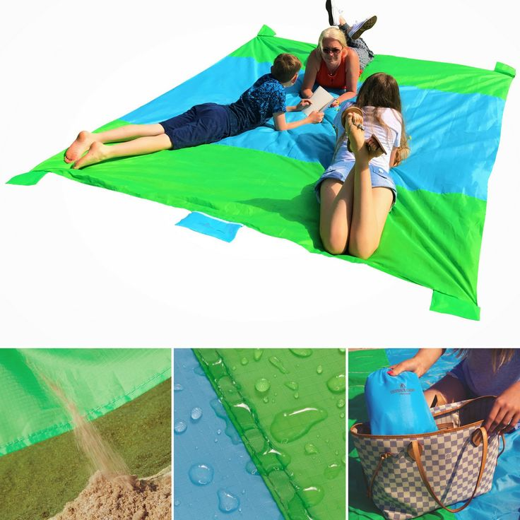 Sand Proof Beach Blanket Oversized Waterproof Light & Compact, Perfect Picnic Blanket, Valuables Pocket with Zipper, 4 Stakes, 4 Anchor Loops, Sand Pockets & Bag – XXL 9'x7' Beach, Camp, Park, Lake. ✅ LAUNCH OFFER - ADD TO CART WHILE STOCKS LAST Our Oversized Sandless Beach Blanket is not just for the beach, it's the perfect companion for Picnics at the Lake, Days spent watching the game, Drinks at the Festival, Relaxing in the Park, Outdoor Yoga sessions or weekends Camping…