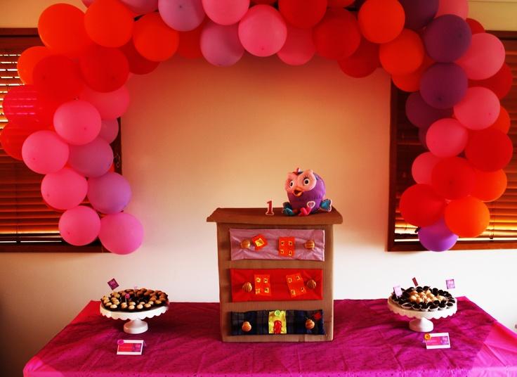 hootabelle birthday party decoration