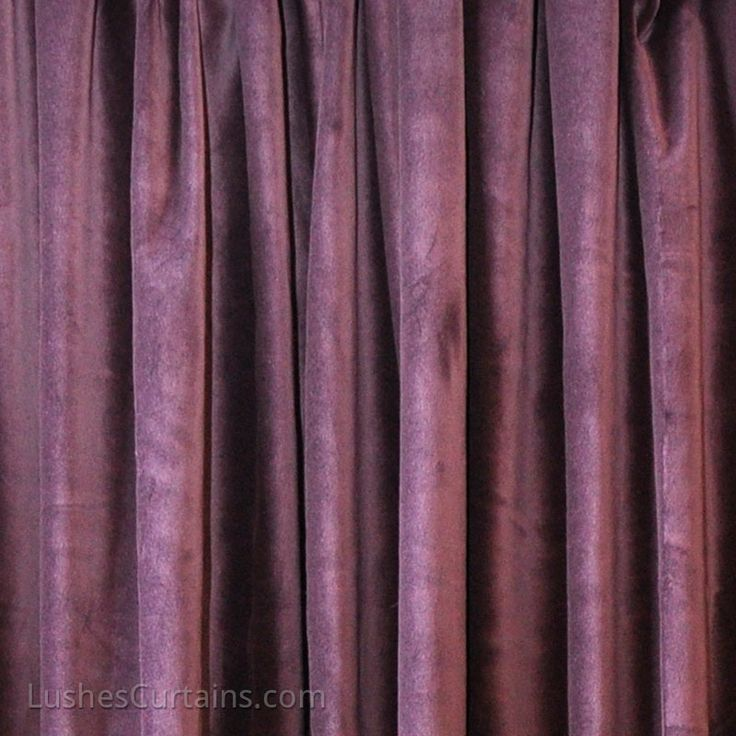 Purple 100% Belgium Cotton Velvet Curtain Panels.  Cortinas moradas teciopelo 100% algodon.