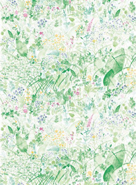 Kesanto-kangas (valkoinen,vihreä) |Kankaat, Puuvillakankaat | Marimekko