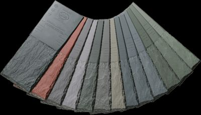 Wide variety of colors available from DaVinci - synthetic slate roofing materials that are natural in appearance and incredibly durable