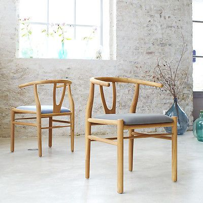 Tikamoon Solid Teak Chair Classic Vintage Curved Wooden Design Kitchen New