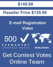 Buy 500 Email Registration Votes at $139.99 Votes from different USA IP Address Bulk Votes Available. Different Country IP address available. www.getcontestvot... #buyonlinevotes #buycontestvotes #buyfacebookvotes #getonlinevotes #getcontestvotes #buyvotesforonlinecontest #buyipvotes #getbulkvotes