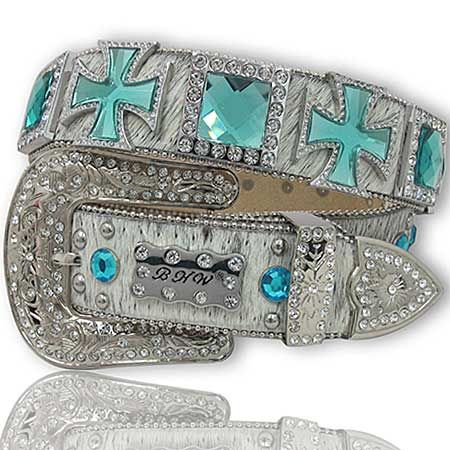 Celtic Cross and Cube Women's Belt  The Western Boutique offers a wide selection of beautiful Texas style  Cowgirl Bling Belts. Made of genuine leather and cowhide.    These western belts feature Rhinestones, Crystals, Crosses, Conchos, and Pistols.  http://thewesternboutique.com/rhinestone-cowgirl-bling-western-belts.html