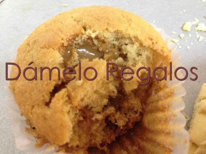 Muffin relleno de manjarblanco, buenísimos!!!!