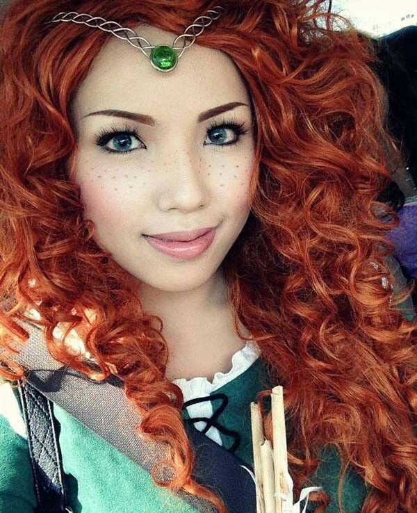 This is awesome!  Merida from Brave make up