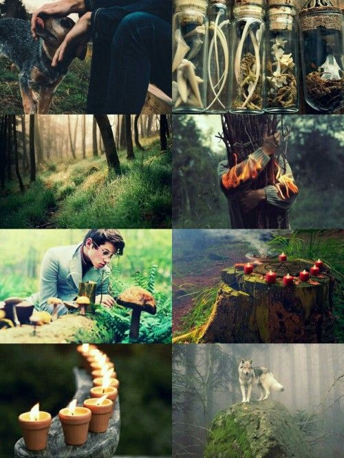 male green witch aesthetic