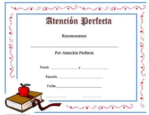 Mer enn 25 bra ideer om Attendance certificate på Pinterest - free perfect attendance certificate template