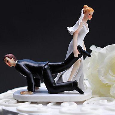 Resina de la torta de boda - Novia Arrastrando novio – EUR € 12.89