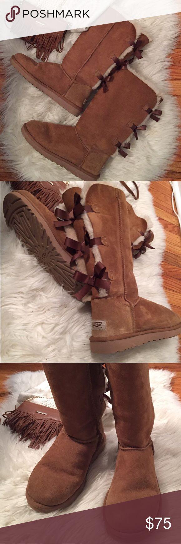 UGG BAILEY BOW TALL BOOT for Woman 2017 Season 8 UGG BAILEY BOW TALL BOOT FOR WOMAN SEASON 2017 Size 8 in Chestnut UGG Shoes Winter & Rain Boots