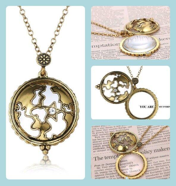 Vintage Magnifying glass pendant necklace  #sale #christmas #womenclothing #onlineshopping #fashion #womenfashion #trendingfashion