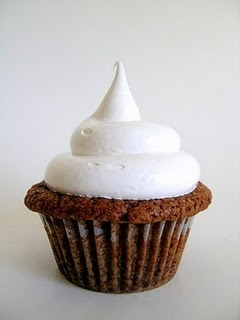 nutella cupcake with marshmallow frosting