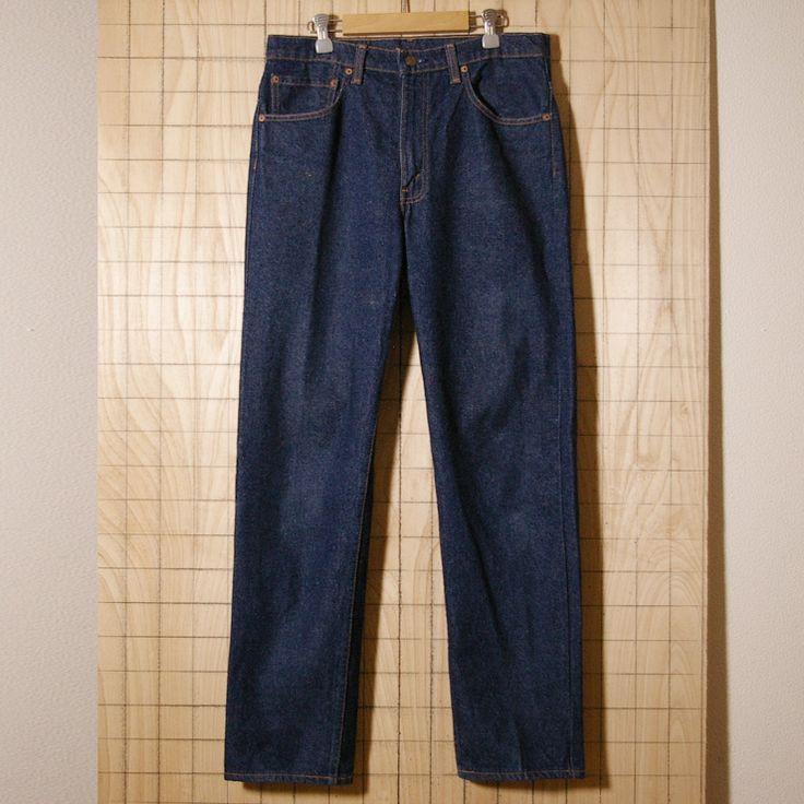【Levi's】カナダ製古着リーバイス505濃紺デニムパンツ メンズW33 de-p-52