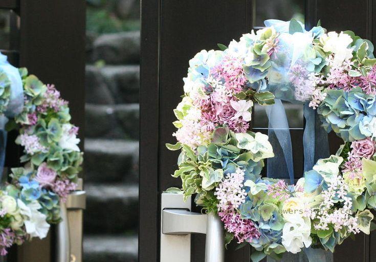 大山ハウス様の装花 さくらのころ ライラック : 一会 ウエディングの花