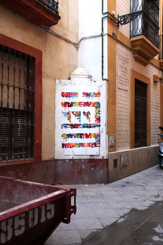 """""""Esto no es Graffiti"""", Seleka & Eltono, Sevilla 2012."""