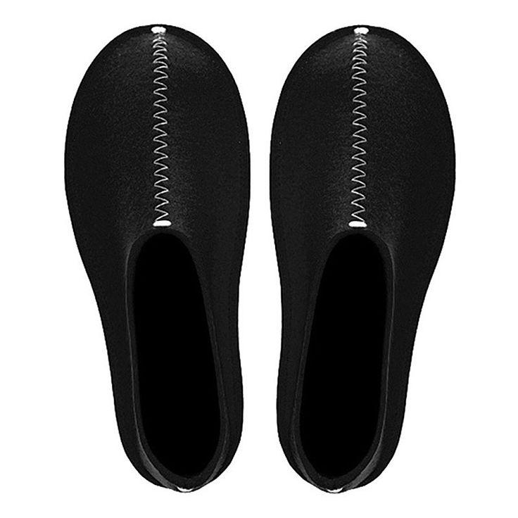 top3 by design - Pia Wallen - felted wool slipper black L