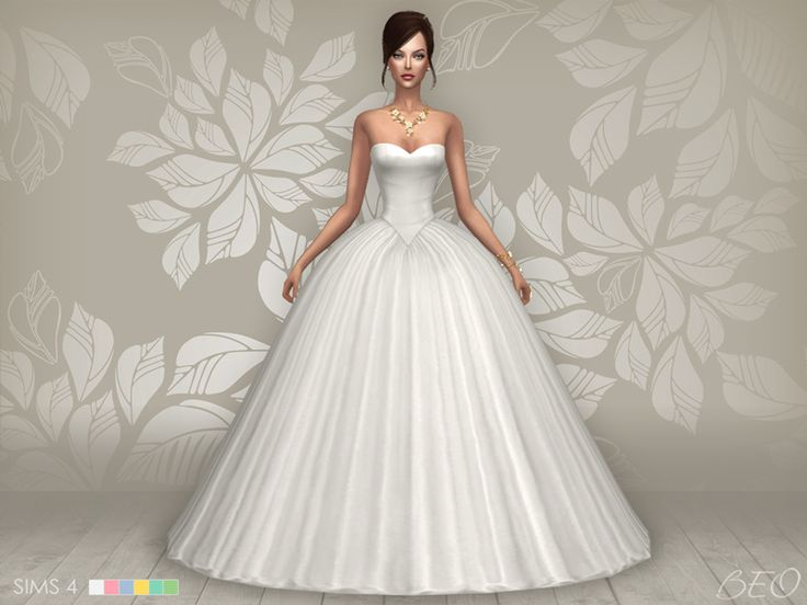 Lana CC Finds - Wedding dress - Cindy (S4)