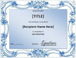 Image result for microsoft word template certificate award