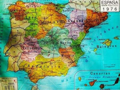 Mapa de la España anterior a la constitución de 1978