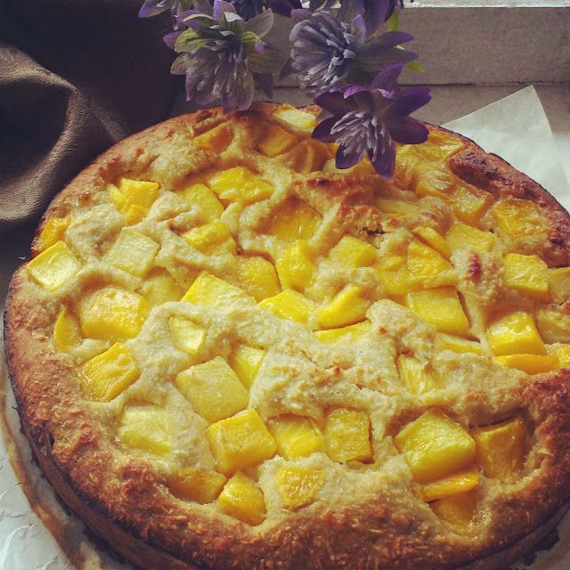 Life is what you're cooking : Mango kokos clafoutis - 2 rijpe bananen, fijngeprakt 40 gr kokosmeel 50 gr kokos rasp 30 ml kokosmelk 4 eieren 1/2 thl Vanille 1/2 thl Wijnsteenzuur poeder 1 Mango geschild en in stukjes