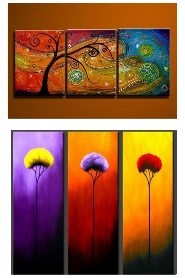 Tree Of Life Painting Abstract Art Painting 3 Piece Canvas Art Canvas Painting Large Group Painting 3 Piece Canvas Art Abstract Art Painting Abstract Art Diy