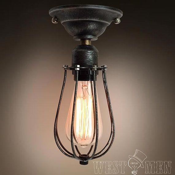 Industrial Kitchen Ceiling Lights: Bathroom Semi Flush Mount Ceiling Light By