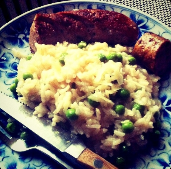 Risotto with a truffle sausage, Owh my!