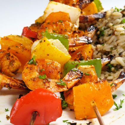 Grilled Shrimp Veggie Kabobs Recipe on Yummly. @yummly #recipe