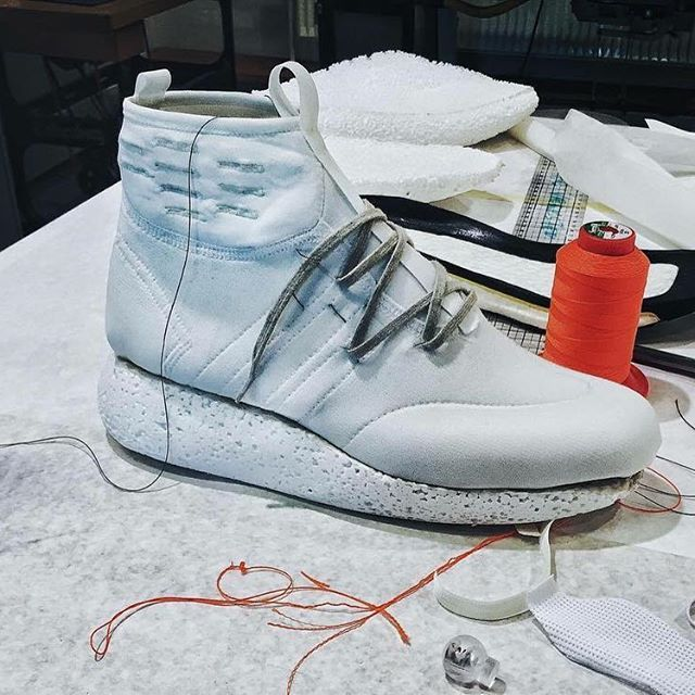 quality design 83ea6 1bf84 First prototype. Testing the shapes and volumes. Alot of cutting, stiching  and starting over. Made a quick foam sole to help understand the ov…