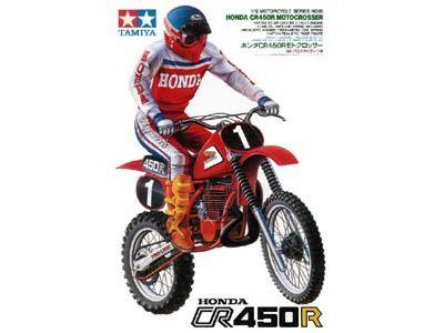 Tamiya 14018 Honda CR450R Motocrosser W RIDER HondaMotorcycles