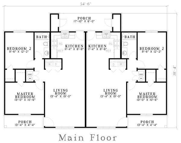 Multi Family Plan 62336 House House Plans And Floors