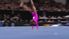 The height that Simone Biles gets on her double-double is craaazy! (gif)