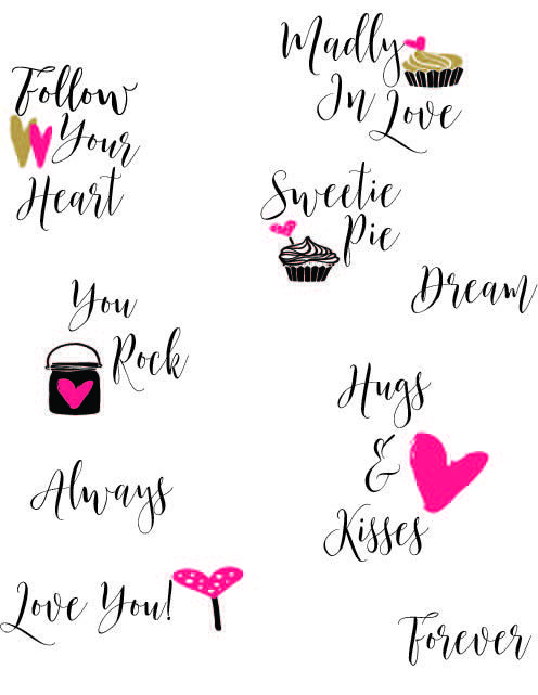 Free Printable-Word Photo Overlays-Love & Romance
