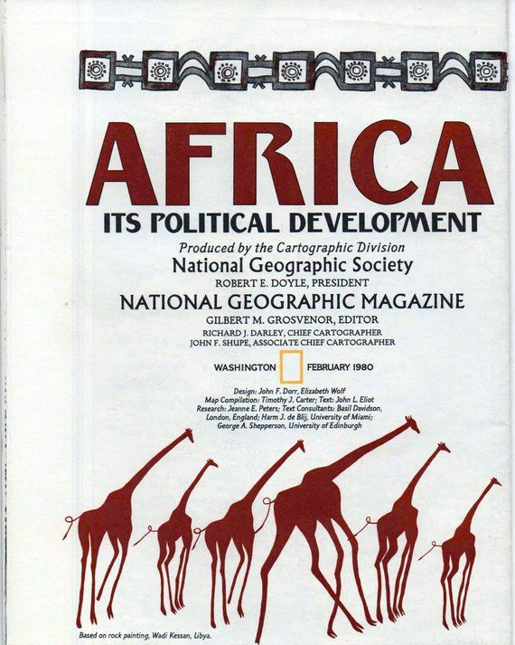 Africa Its Political Development, National Geographic Map, 1980