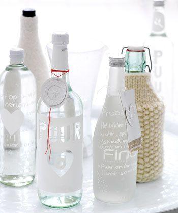 diy design on (water)bottle