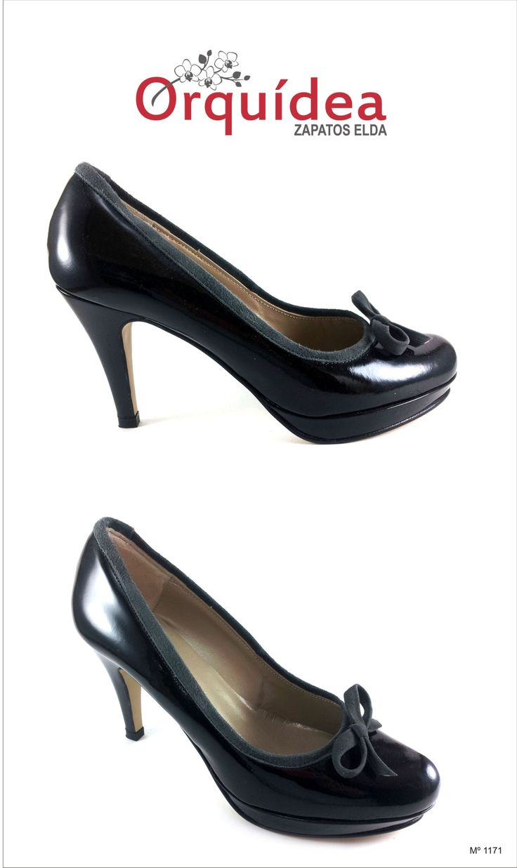 #Orquídea #zapatoselda 2014, #zapato #negro #elegante y muy #cómodo. zapatoselda.com http://zapatoselda.com/es/t-finos/81-salon-1132.html