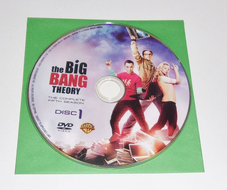The Big Bang Theory DVD Season 5 Disc 1 Replacement Disc Only
