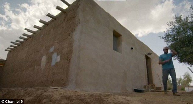 The couple left behind their five-bedroom house in Kentucky to build their own simple mud ...