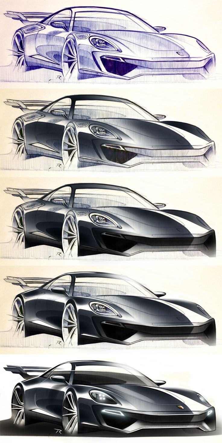 Daily Sketch: Porsche - from sketch to render by Pedro Ruperto gallery: Pedro's work: https://pinterest.com/pedro_ruperto/my-concepts-sketches-renderings/