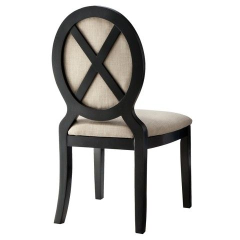 oval back dining chair white. kinfine morris oval back dining chair - set of 2 white s