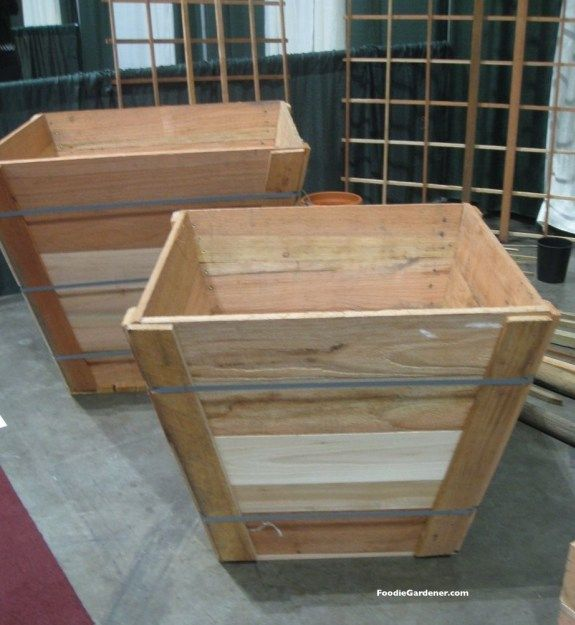 wood landscape tree boxes can be used as raised garden planters for growing vegetables