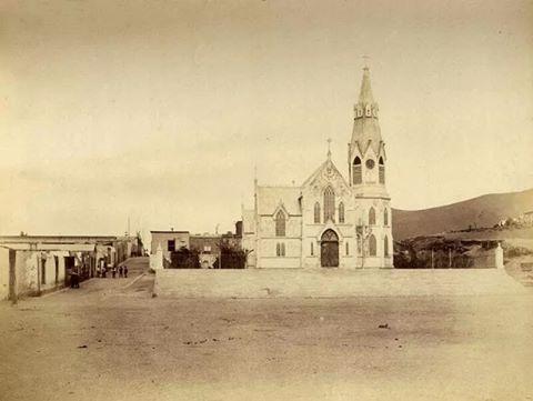 La toma de Arica. Iglesia de San Marcos. Fotografía Díaz & Spencer.