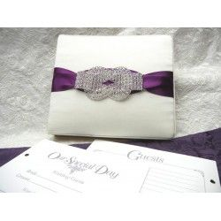 Crystal Wedding Knot Guest Book also available  matching Ring Pillow