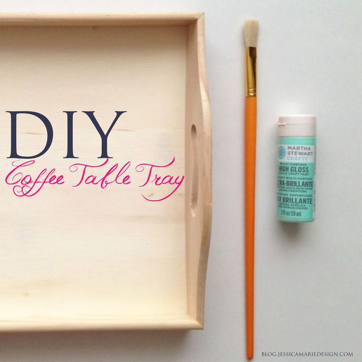 DIY Coffee Table Tray in Mint!