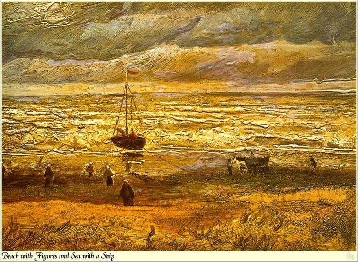 Republica SWD 010 Van Gogh-Beach with Figures. Винсент ван Гог . Описание картины, скачать репродукцию.