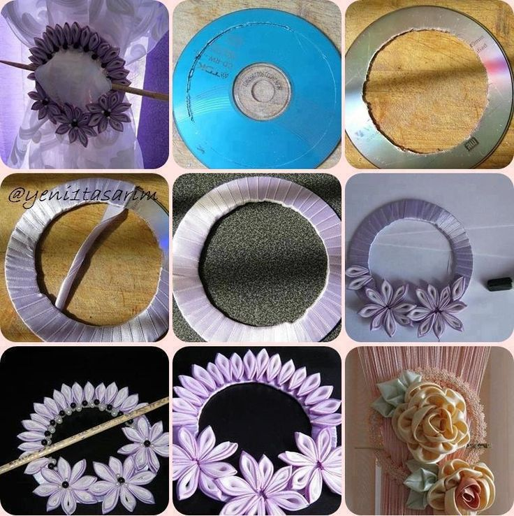 DIY Old CD Curtain Fastener