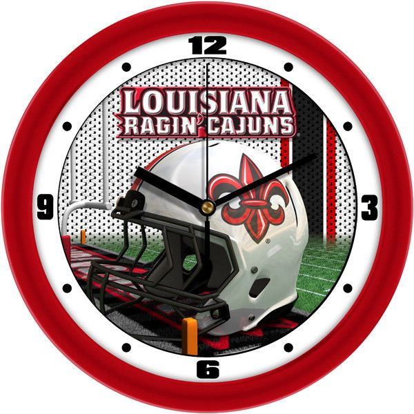 NCAA Louisiana Ragin' Cajuns-Football Helmet Wall Clock