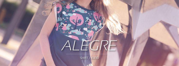 FREEbook für ein Shirt, Kleid, Tunika für Mädchen in den Größen 128 bis 174. Schnell und ganz einfach zu nähen. Sofortiger Erfolg beim Nähen! -kostenlos-